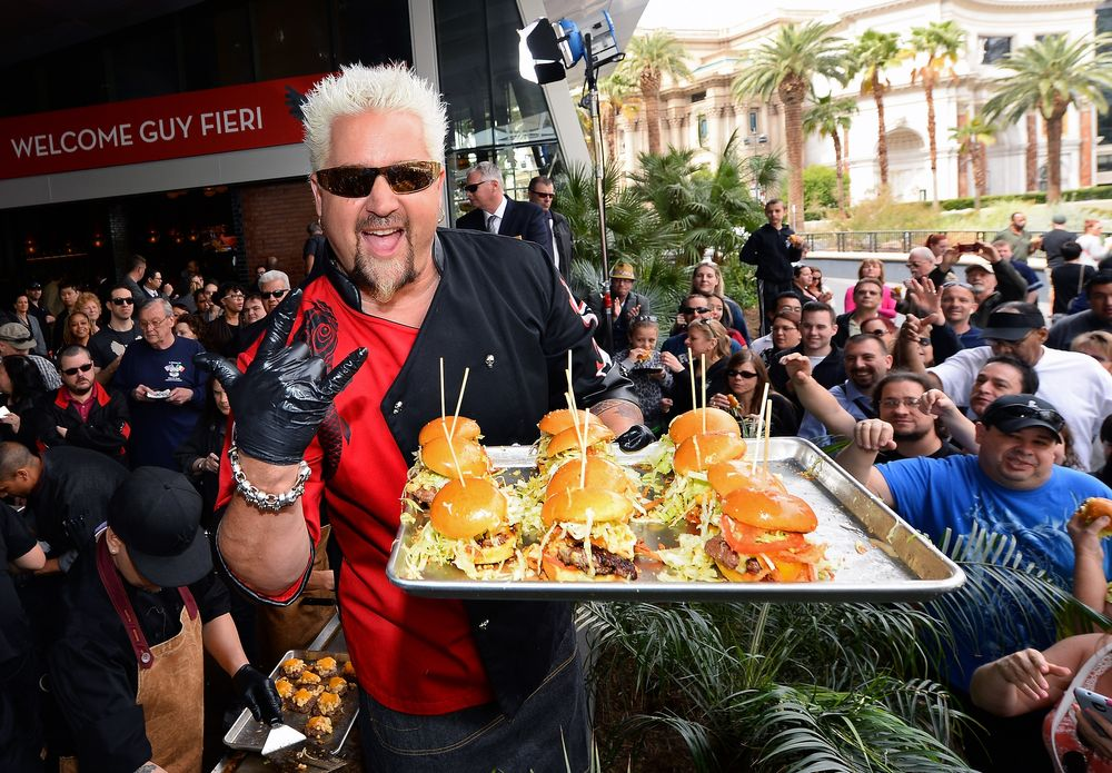 LAS VEGAS, NV - APRIL 04:  Chef and television personality Guy Fieri pos...