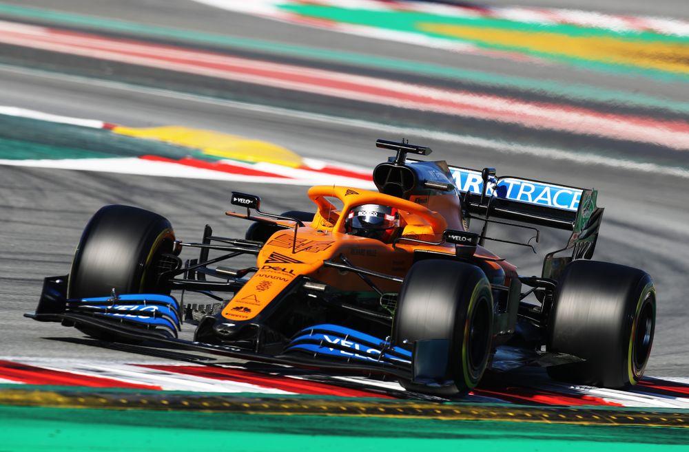 BARCELONA, SPAIN - FEBRUARY 28: Carlos Sainz of Spain driving the (55) M...
