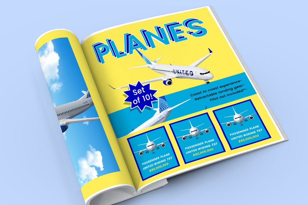 Catalogue full of planes