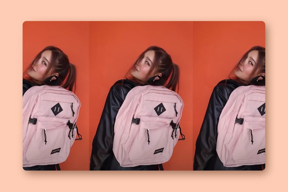 Girl with JanSport backpack