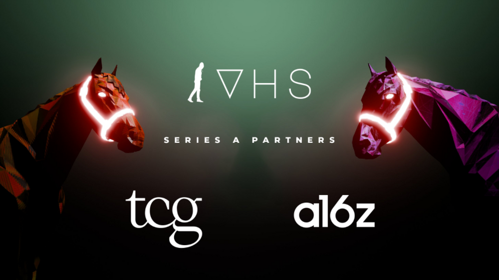 Two virtual horses on VHS's Series A announcement