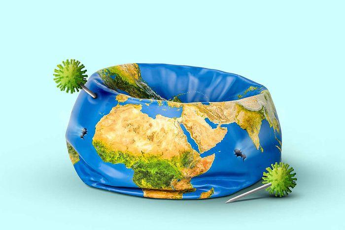 Globe deflated