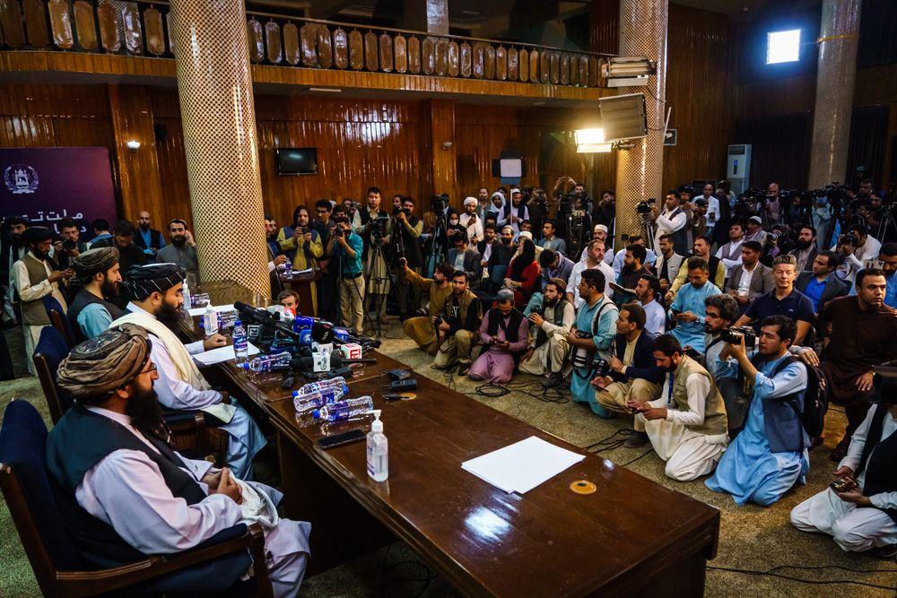 KABUL, AFGHANISTAN -- AUGUST 17, 2021: Zabihullah Mujahid, the Taliban s...