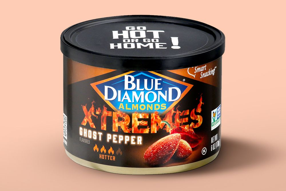 can of Blue Diamond Ghost Pepper almonds