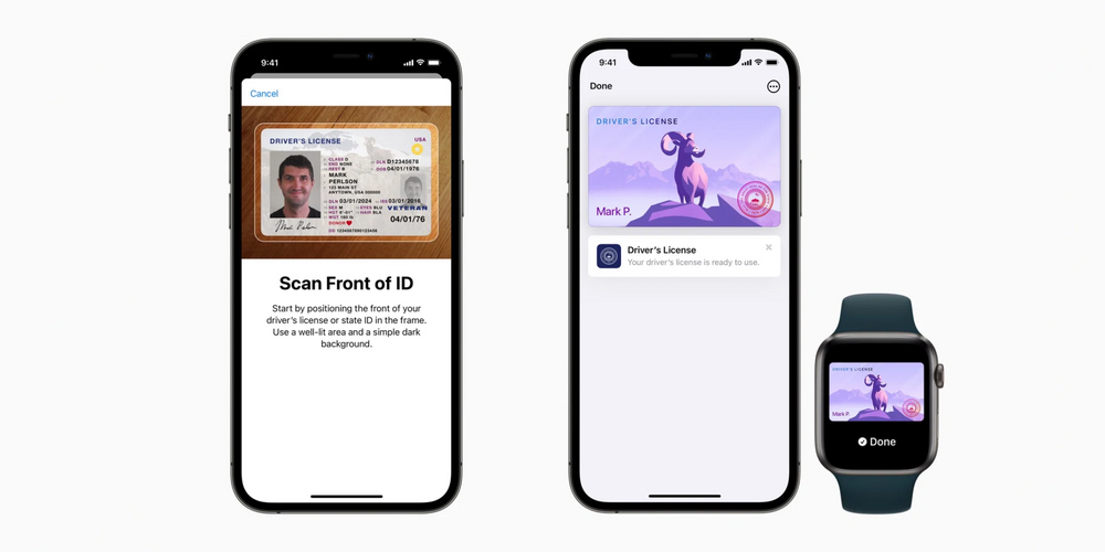 State ID in Apple wallet setup and on Apple watch