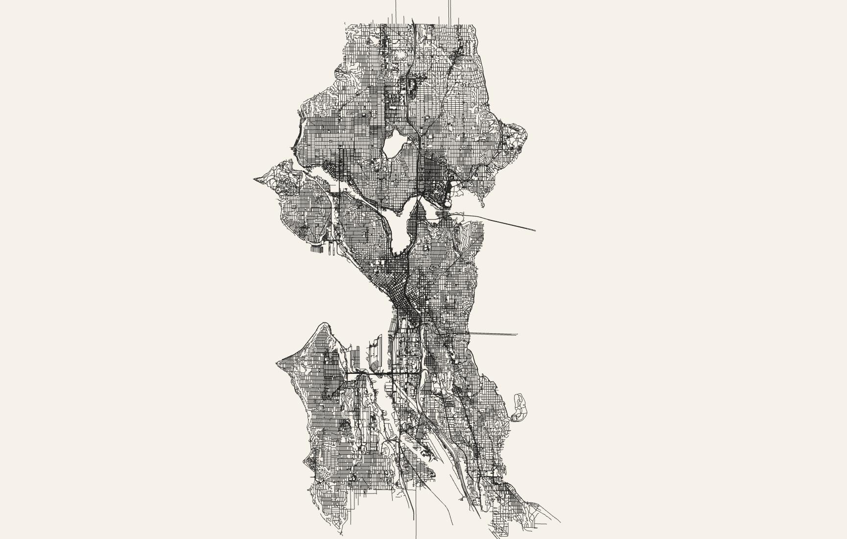 Seattle street grid