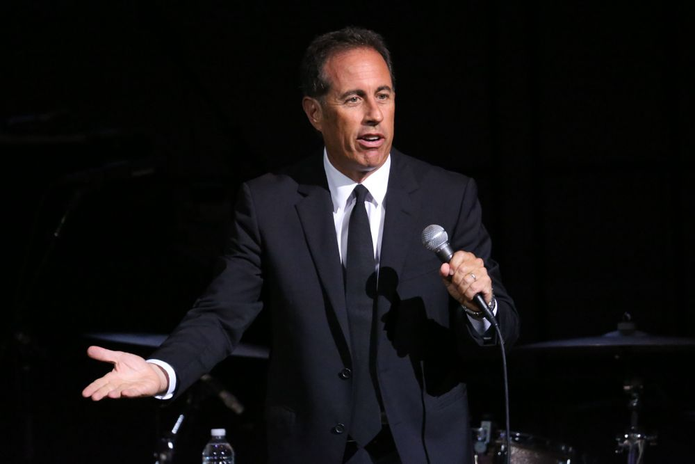 NEW YORK, NY - SEPTEMBER 12:  Jerry Seinfeld performs during the GOOD + ...