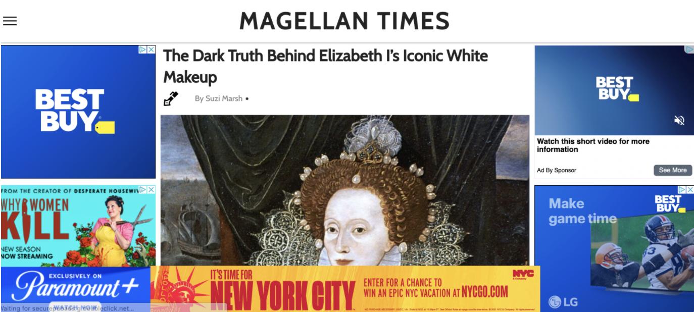 Magellan Times page