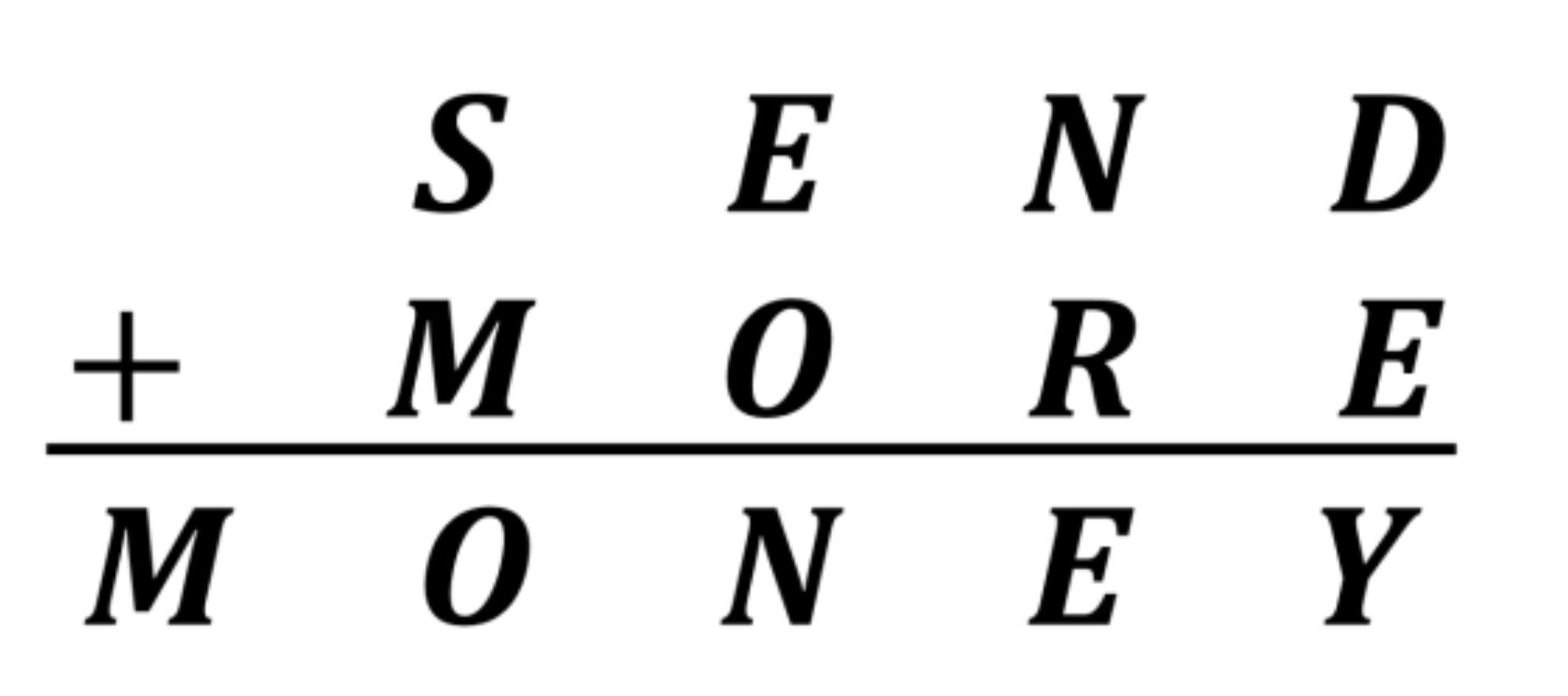 Send + more = money