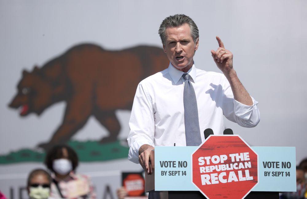 SAN LEANDRO, CALIFORNIA - SEPTEMBER 08:  California Gov. Gavin Newsom sp...
