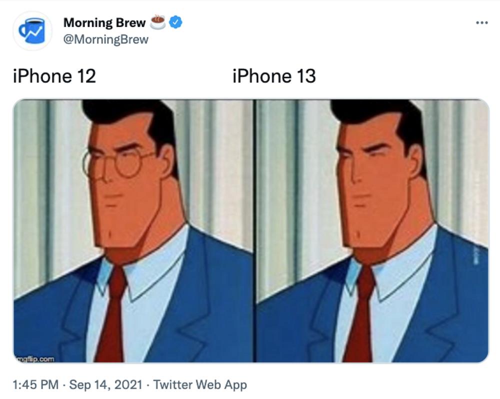 Clark Kent iPhone meme