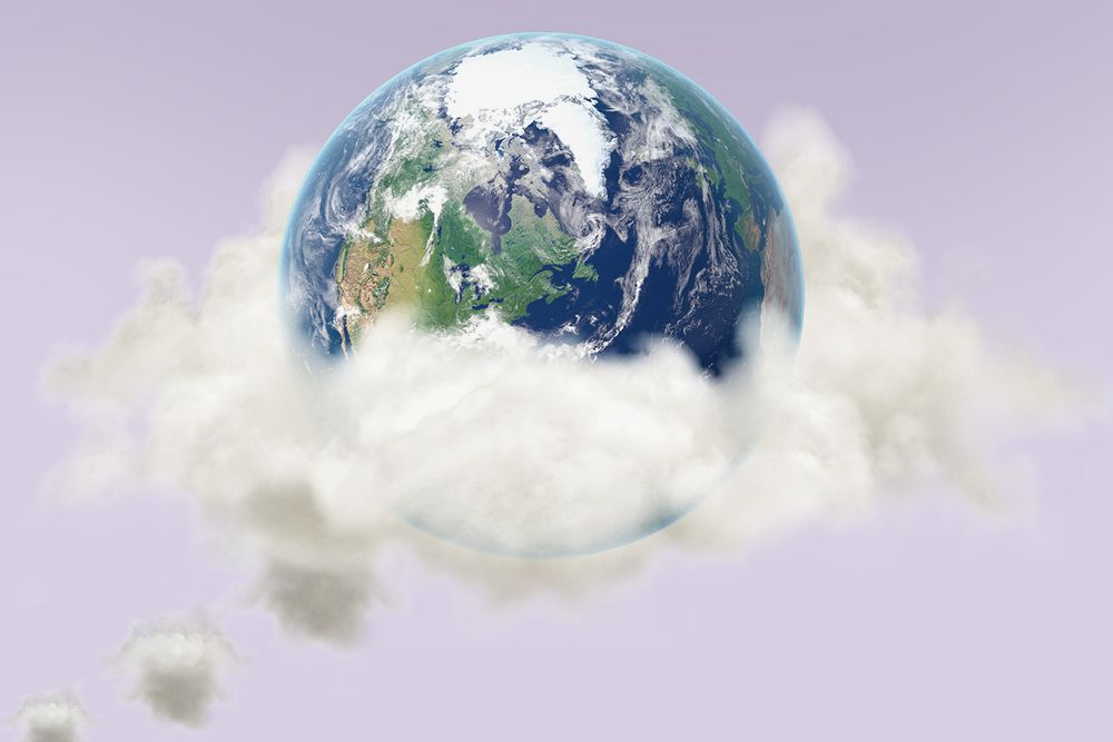 A smog-covered earth