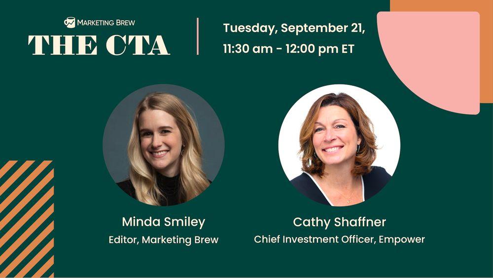 promo for Marketing Brew's September CTA event