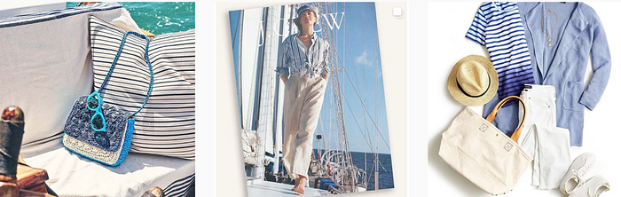 J.Crew clothes from its Instagram during week of reported bankruptcy filing