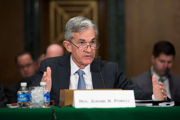 Jerome Powell testifying before Congress