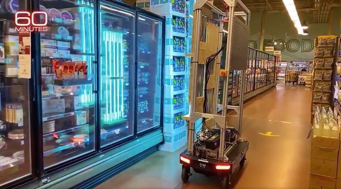Amazon tests a UV light robot at Whole Foods