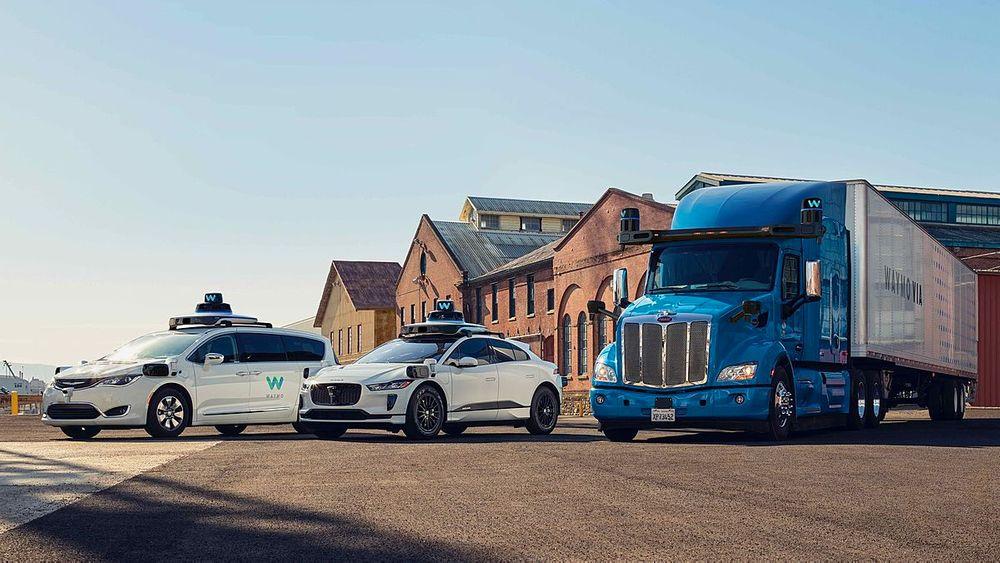 Waymo line-up of autonomous vehicles
