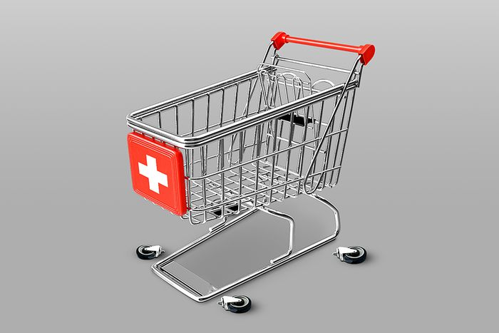 Essential grocery cart loses its wheels