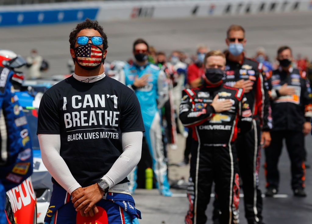 Bubba Wallace, the circuit's only black driver, called on NASCAR to remove the Confederate flag this week Chris Graythen/Getty Images