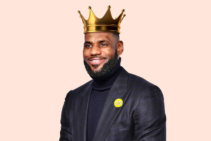 LeBron James with a crown