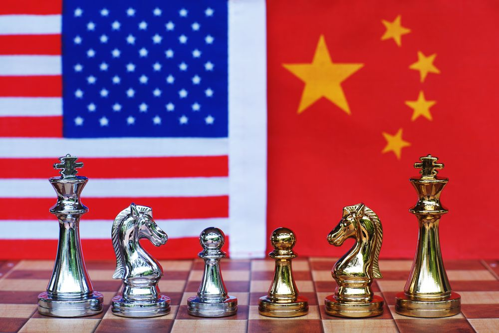U.S. china tensions chess board