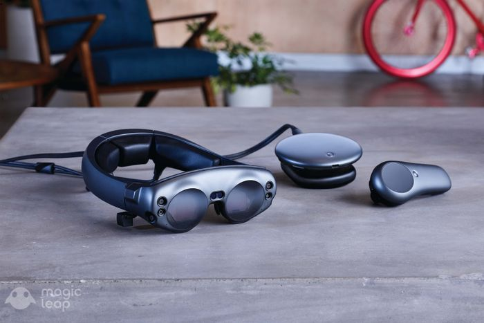 Magic Leap augmented reality headset, computer, and controller
