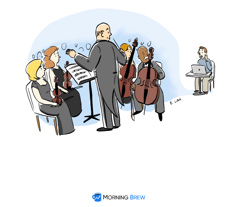 A chamber orchestra