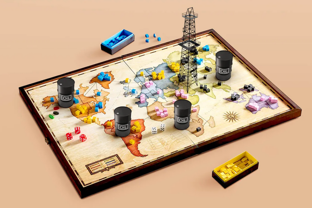 Game of Risk, played in oil barrels