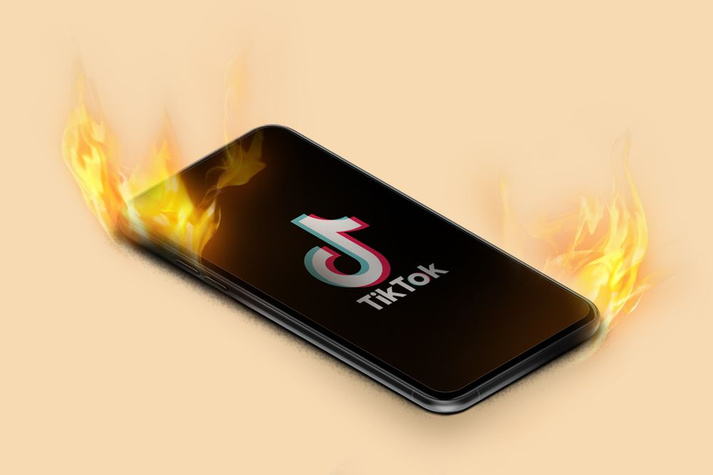 TikTok on fire