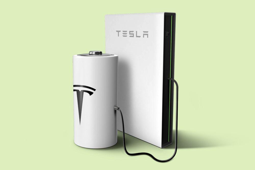 Tesla battery illustration