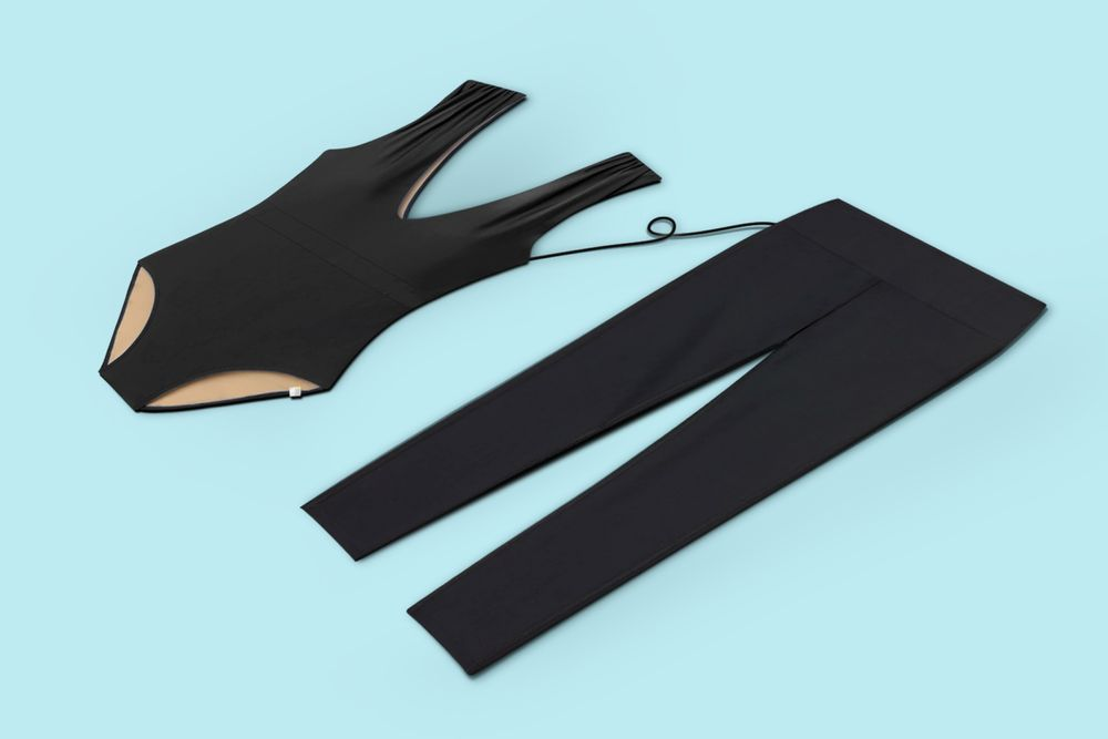 Summersalt swimsuit and leggings side by side