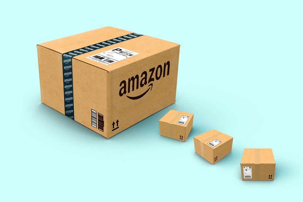 A box of Amazon goods