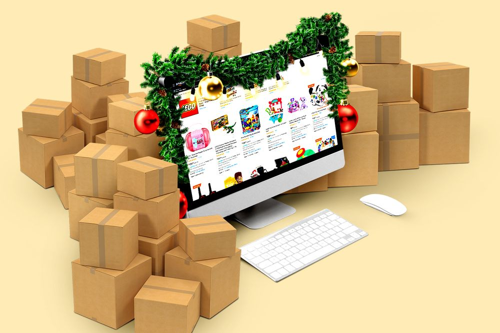 lots of christmas boxes