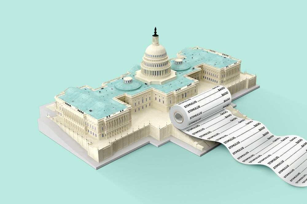A receipt coming out of the U.S. Capitol building